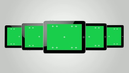 Digital tablet ipad Green screen