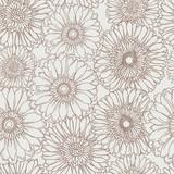 Fototapety Hand drawn floral seamless pattern