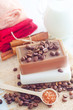 coffee soap, soap for spa, coffee and milk