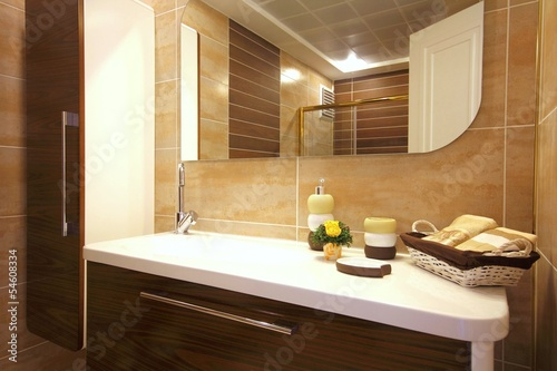 canvas print picture Stylish bathroom design