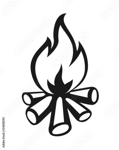 campfire  vector illustration isolated on white background