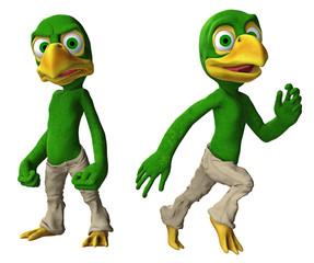 Cartoon-Adler / Vogeljunge in verschiedenen Posen 3