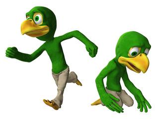 Cartoon-Adler / Vogeljunge in verschiedenen Posen 2