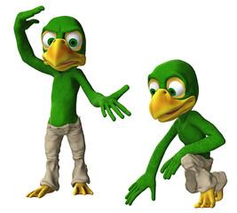 Cartoon-Adler / Vogeljunge in verschiedenen Posen 1