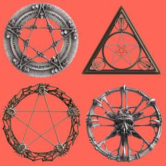 verschiedene Pentagramme