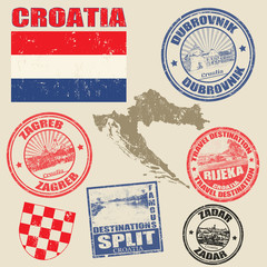 Set of Croatia stamps