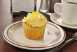 Lemon cupcake and coffee