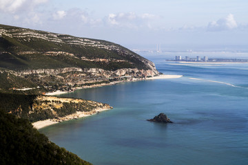 Landscape of National park of Arrabida in Portugal
