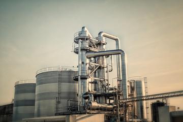 oil refinery shiny tubes