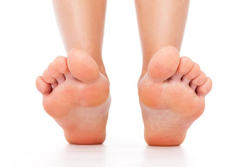 Foot stepping legs isolated