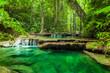Leinwanddruck Bild - Erawan waterfall.