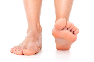 Woman feet isolated