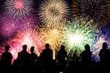 Fototapety 打ち上げ花火と観客