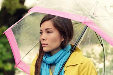 Melancholia - Melancholic woman in rain
