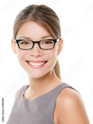 Glasses eyewear spectacles woman looking happy