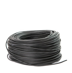 black cable isolated