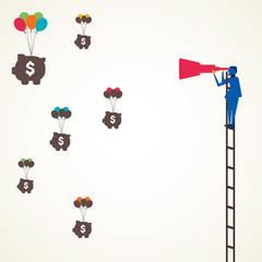 money find through telescope vector
