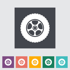 Icon car wheel.