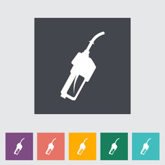 Refueling nozzle flat icon.
