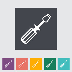 Screwdriver single flat icon.