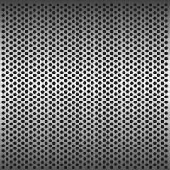Seamless circle metal grill pattern