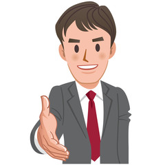 ビジネスマン 握手 Cartoon businessman handshake