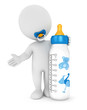 3d white people baby feeding bottle