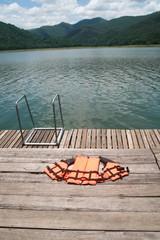 life jacket and natural