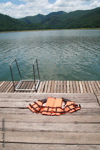 life jacket and natural