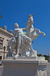 Man and a horse sculpture of Belvedere palace. Vienna, Austria