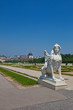 Sphinx sculpture in Belvedere garden. Vienna, Austria