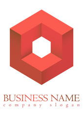 Business logo 3D cube design