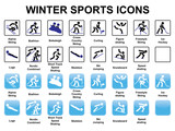 set of winter sports icons