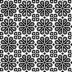 Geometrical flower seamless pattern