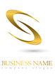 Business logo 3D gold spiral design