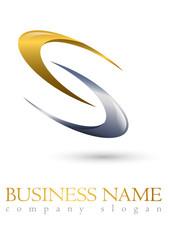 Business logo 3D gold spiral design