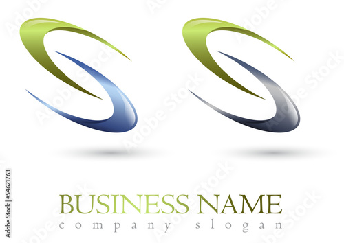 Business logo 3D spiral design