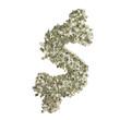 Dollarzeichen gebildet aus Dollar Banknoten