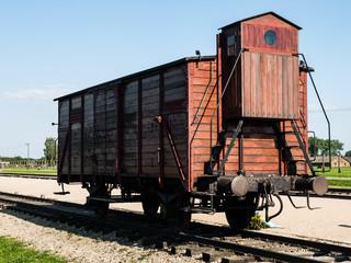 Transport vagon in Birkenau