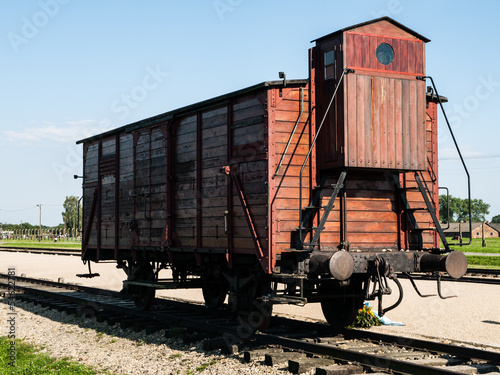 Transport vagon in Birkenau