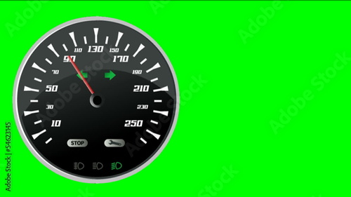 Speedometer on green screen