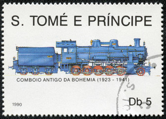 stamp commemorative honoring railroad locomotives
