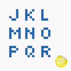 Unique Pixel Block Alphabet With Sticker