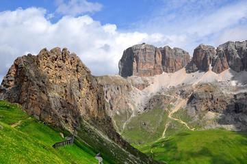 Dolomite peaks, Sella,Val di Fassa, Italy Alps