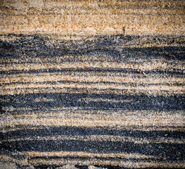 sand ripple texture with black and yellow strips, background