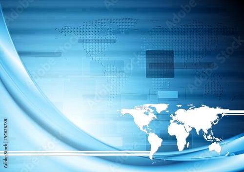 Creative technology blue background. Vector illustration eps 10