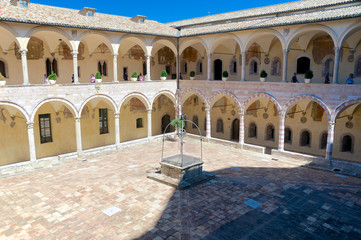 Cloister of San Francesco in Assisi, Italy