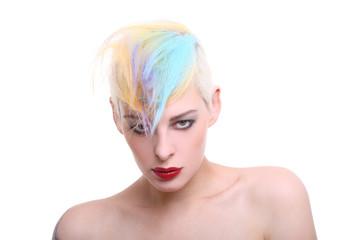 colorierte haare