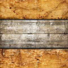 pergamena e legno vintage