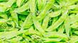 closeup garden peas